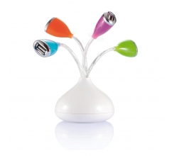 Flower 4-Port USB Hub mit LED bedrukken