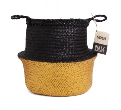 SENZA Belly Basket Black/Gold bedrucken